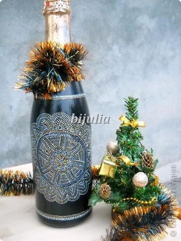 Бутылки с новогодним напитком:) фото 6