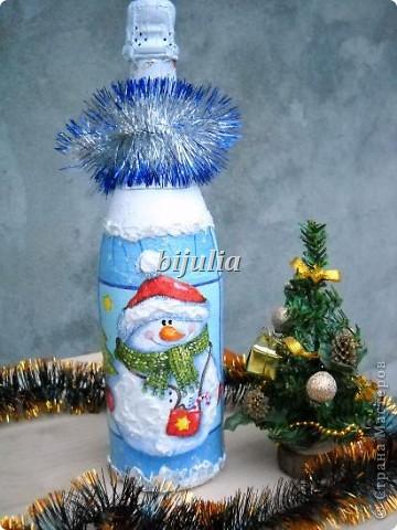 Бутылки с новогодним напитком:) фото 7