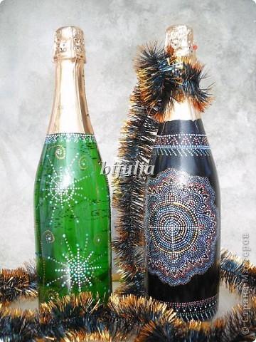 Бутылки с новогодним напитком:) фото 9