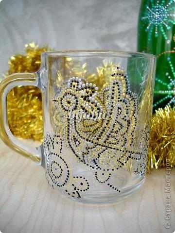 Стеклянные чашки. Роспись контурами. фото 2
