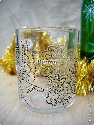 Стеклянные чашки. Роспись контурами. фото 3