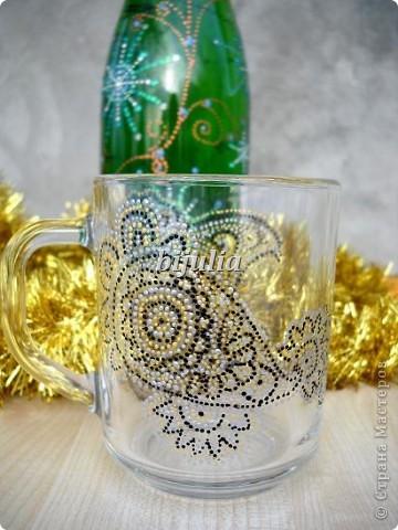 Стеклянные чашки. Роспись контурами. фото 7