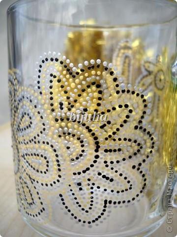 Стеклянные чашки. Роспись контурами. фото 5