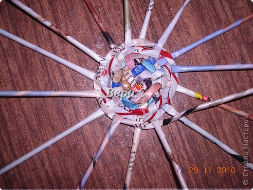 Рождественские колокольчики. Украсила тесьмой,пайетками, мишурой и  лентой. Всё в одном цвете,ничего не хотелось лишнего. фото 2