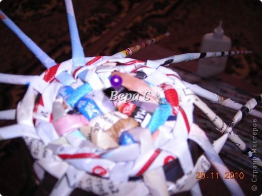 Рождественские колокольчики. Украсила тесьмой,пайетками, мишурой и  лентой. Всё в одном цвете,ничего не хотелось лишнего. фото 4
