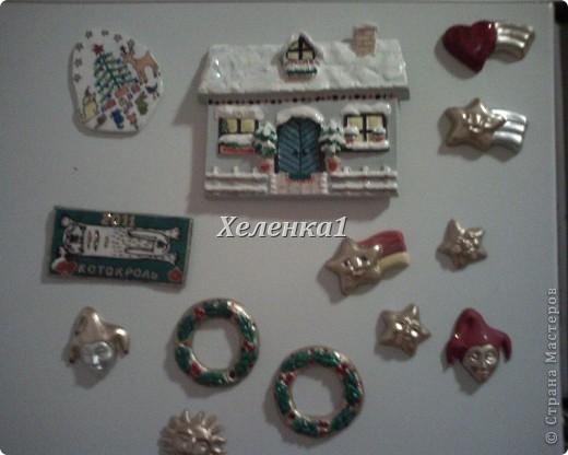 Мои росписи магнитов из глины и керамики фото 2