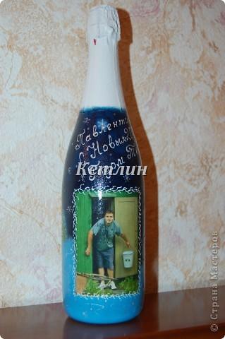 Заказала у меня  одна девушка бутылку с фотографией,да так ей понравились такие бутылочки.Две уже забрала,еще три делаю.  фото 3