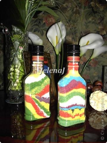 Мои первые работы - бутылочки с солью фото 1