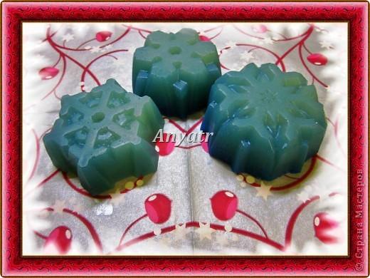 """Мои новогодние глицериночки. Глицериновое мыло """"с нуля"""",сварено горячим способом,окрашено перламутровым синим пигментом.Пахнет ванилькой."""