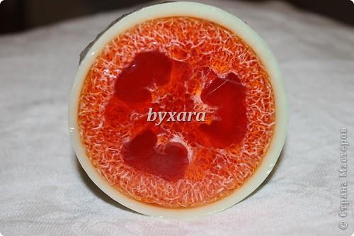 Разноцветное мыло из основы с добавлением люфы фото 2