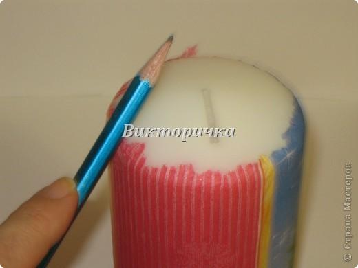 К Новому году, ко дню рождения или на день влюблённых - всегда зажигают свечи! Предлагаю Вашему вниманию простой МК по декупажированию свечи. фото 5