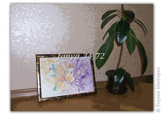 МК (развернутый и дополненный) Флористический коллаж в технике терра фото 14