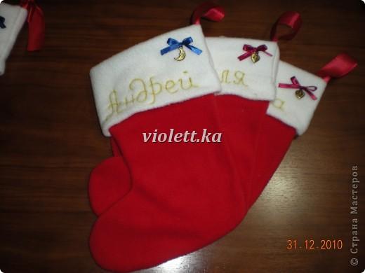 рождественские носочки)) фото 2