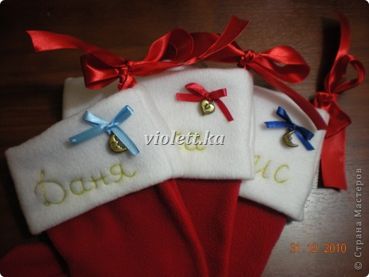 рождественские носочки)) фото 3