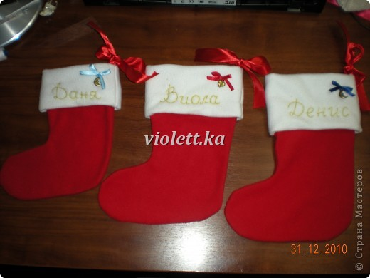 рождественские носочки)) фото 4