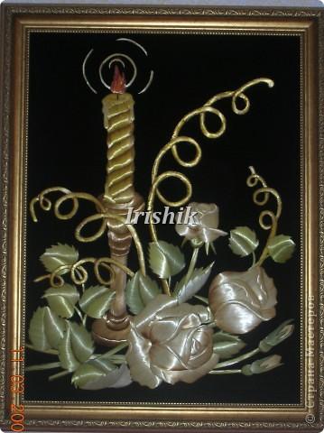 В сиянии свечи 30х40 Здесь  солому не красила, только цвет закрепляла зеленый, ну и огонек конечно из крашенной... фото 1