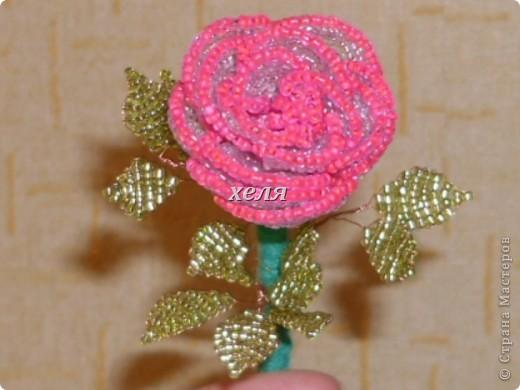 моя первая роза из бисера