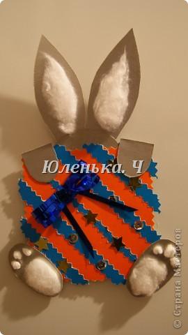 Котик Картон, вата, украшение, клей. фото 5