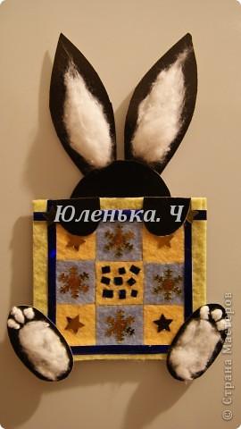 Котик Картон, вата, украшение, клей. фото 6