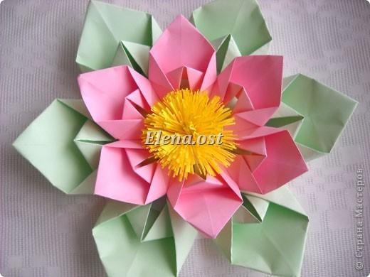 Оригами на открытку цветы 49
