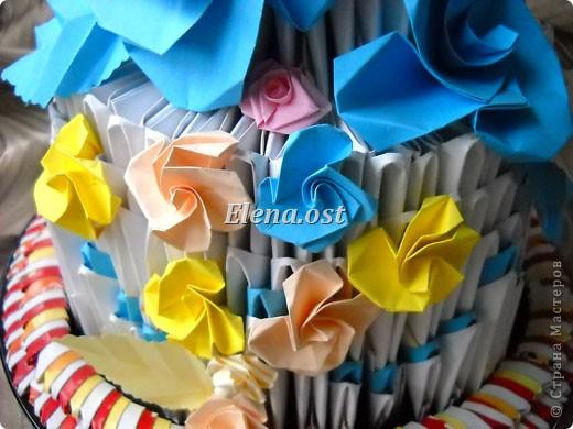 Мастер-класс Открытка 8 марта День защиты детей День рождения День учителя Начало учебного года Квиллинг Оригами Цветок оригами оригинальный Бумага Картон фото 26