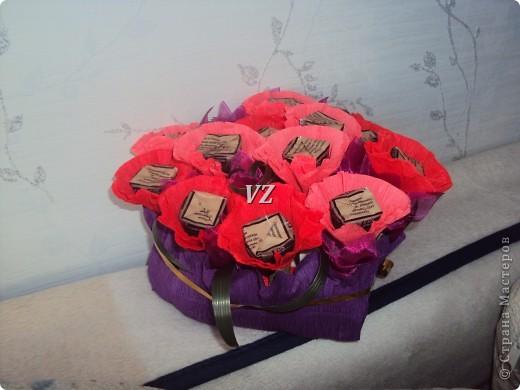 Сладкая валентинка - сердце из конфет фото 1