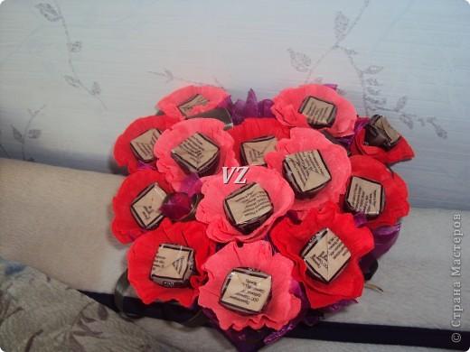 Сладкая валентинка - сердце из конфет фото 2