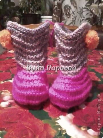 Благодаря МК MarinaKlin я научилась вязать вот такие прекрасные сапожки. фото 4
