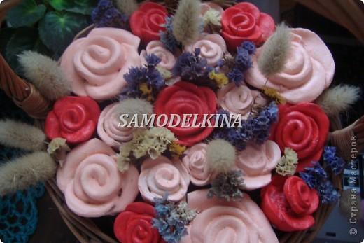 корзинки с цветами из теста и сухоцветами фото 1