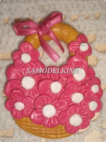 корзинки с цветами из теста и сухоцветами фото 3