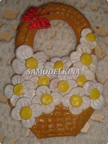 корзинки с цветами из теста и сухоцветами фото 4