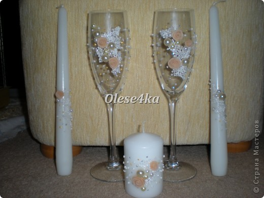 Свадебные бокалы и свечи) фото 1