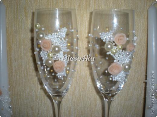 Свадебные бокалы и свечи) фото 2