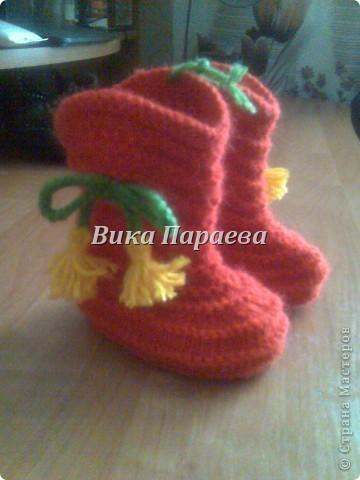 Ну очень мне нравится вязание этих сапожек! фото 3