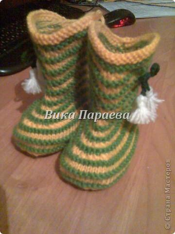 Ну очень мне нравится вязание этих сапожек! фото 1
