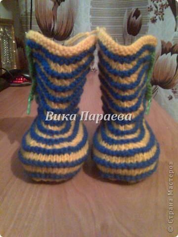 Ну очень мне нравится вязание этих сапожек! фото 6