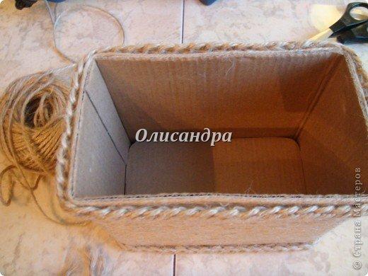 Вот такую коробочку для бумаг я сделала из ненужной коробки... Как это начиналось можно посмотреть здесь... https://stranamasterov.ru/node/141514 фото 7