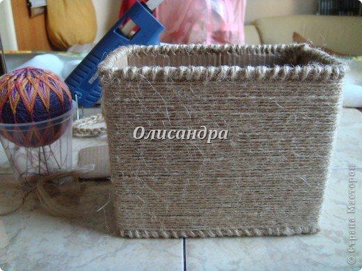 Вот такую коробочку для бумаг я сделала из ненужной коробки... Как это начиналось можно посмотреть здесь... http://stranamasterov.ru/node/141514 фото 13