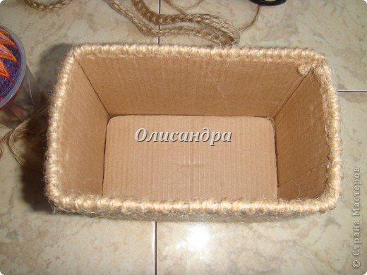 Вот такую коробочку для бумаг я сделала из ненужной коробки... Как это начиналось можно посмотреть здесь... https://stranamasterov.ru/node/141514 фото 15