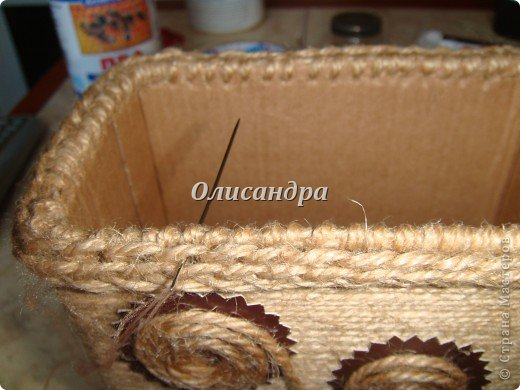 Вот такую коробочку для бумаг я сделала из ненужной коробки... Как это начиналось можно посмотреть здесь... https://stranamasterov.ru/node/141514 фото 19