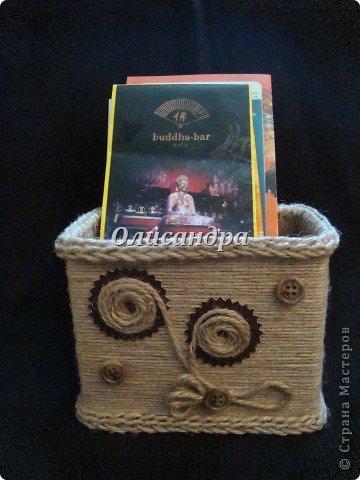 Вот такую коробочку для бумаг я сделала из ненужной коробки... Как это начиналось можно посмотреть здесь... https://stranamasterov.ru/node/141514 фото 22