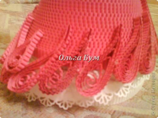 Дама в розовом платье с розой в руках. Из гофрокартона. Придумала её полностью сама. Придумала и сделала! фото 16