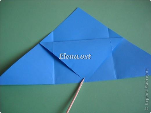 Конверт-оригами для маленькой  открытки. Украшаем цветами в технике квиллинг. При копировании статьи, целиком или частично, пожалуйста, указывайте активную ссылку на источник! http://stranamasterov.ru/user/9321 http://stranamasterov.ru/node/142138 фото 8