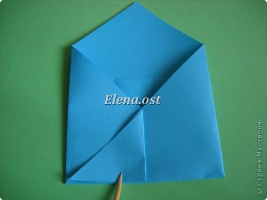 Конверт-оригами для маленькой  открытки. Украшаем цветами в технике квиллинг. При копировании статьи, целиком или частично, пожалуйста, указывайте активную ссылку на источник! http://stranamasterov.ru/user/9321 http://stranamasterov.ru/node/142138 фото 10