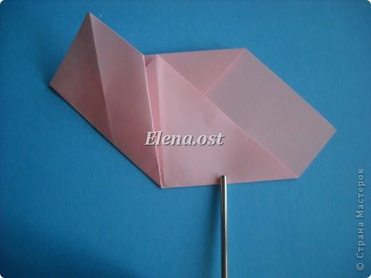 Конверт-оригами для маленькой  открытки. Украшаем цветами в технике квиллинг. При копировании статьи, целиком или частично, пожалуйста, указывайте активную ссылку на источник! http://stranamasterov.ru/user/9321 http://stranamasterov.ru/node/142138 фото 21