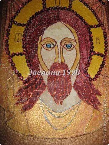 """Яичная мозаика """"Образ Господа нашего Иисуса"""""""