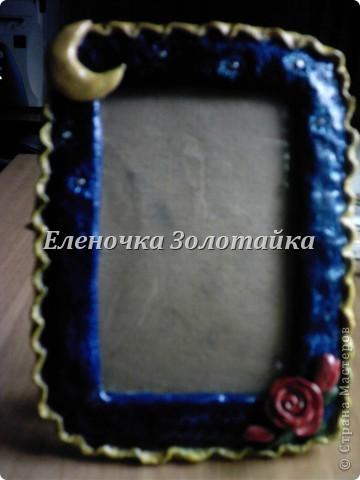 рамка для фотографии  из соленого теста, покрыта лаком фото 1