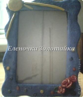 рамка для фотографии  из соленого теста, покрыта лаком фото 3