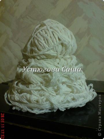хотела я сделать снеговика http://stranamasterov.ru/node/25926?tid=451 но увы я не до конца проклеила и они у меня стали мягкими смотрите дальше как я делала-----> фото 1