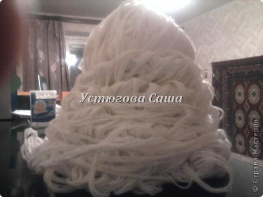 хотела я сделать снеговика http://stranamasterov.ru/node/25926?tid=451 но увы я не до конца проклеила и они у меня стали мягкими смотрите дальше как я делала-----> фото 4